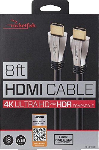 Rocketfish - 8 In-Wall HDMI Cable