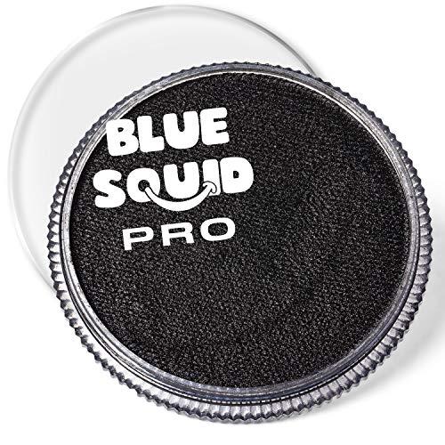 Blue Squid Schminke Face Paint und Bodypaint - Klassisches Schwarz 30g, PRO, Hochwertige, professionelle, wasserbasierte Einzelbehälter, Face und Bodypaint Farbe für Erwachsene, Kinder und SFX