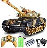 Dkdnjsk Control remoto Toy Car 44cm Super Large Smel Simulation World War II Defensa Aéreo Tanque de control remoto RC Chalecas Militares Radio Controlado Panzer Tanques con torreta giratoria de sonid