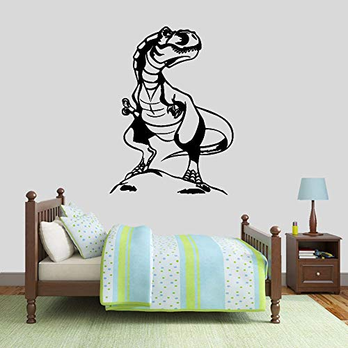 wZUN Tyrannosaurus Wandtattoos Dinosaurier Thema Vinyl Aufkleber Kinderzimmer Kinderzimmer Wohnkultur Kunst Tapete 42X55cm
