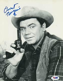 Ernest Borgnine Autographed Cowboy Photo UACC RD PSA/DNA AFTAL