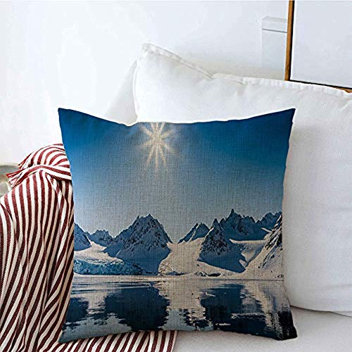 New-WWorld-Shop Kissenbezüge Gletscher Klima Reisen Arktis Sommer Polar Winter Landschaften Spitzbergen Norwegen Parks Outdoor Kissenbezüge