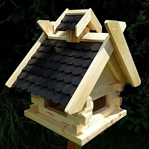 Vogelhaus Schreinerarbeit Futterhaus Vogelhäuschen --Wetterschutz-- K Block Schwarz Holz Vogelhäuser