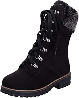 Winter Snow Boots for Women Suede Cotton Warm Fur Lined Ankle Booties Outdoor Anti-Slip Waterproof Platform Shoes