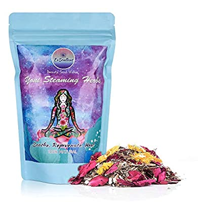 ExSoullent Yoni Steaming Herbs - 100% Organic Vaginal Steam, 10 Yoni Steam Herbs Blend, V Steam | Soothe. Rejuvenate. Heal