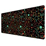 Ruifengsheng Large Gaming Mouse Pad, Natural Rubber Plus Ultra Smooth Surface Gaming Mouse Pad-Water Resistant & Anti-Slip Mice Mat for Gamer, Office, Home (9040 j-071)