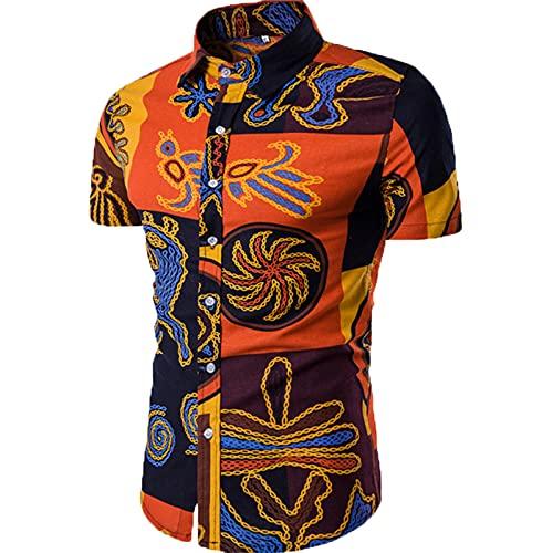 SSBZYES Camisas De Verano De Manga Corta para Hombres, Camisas para Hombres, Camisas Estampadas, Camisas De...