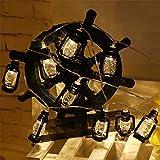 Wetterfeste Gartenleuchten für Terrasse, Garten, Café, HochzeitRetro Power Garden LED- Lichterketten Warmweiß Hängelampen Gartendekor Außenbeleuchtung Partybeleuchtung Lichterketten