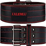 【2020 Newest】 Genuine Leather Weightlifting Belt - 4 Inches Wide Powerlifting Belt Gym Lifting Belt for Men and Women - Lower Back Support for Squats, Deadlifts, Cross Training