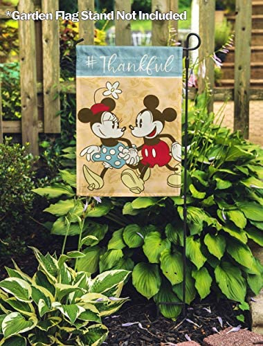 "Fall Disney MICKEY MOUSE HARVEST Garden Flag Autumn Thanksgiving 12/""x18/"" NEW"