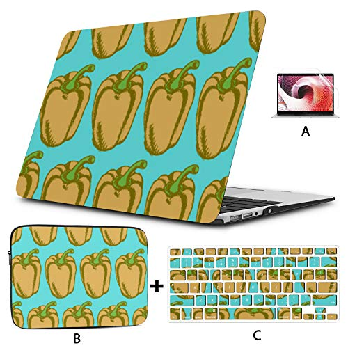 Mac Book Air Covers Colorful Create Bell Pepper Vegetable Macbook 2017 Case Hard Shell Mac Air 11'/13' Pro 13'/15'/16' With Notebook Sleeve Bag For Macbook 2008-2020 Version