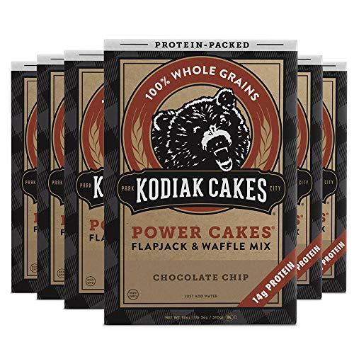 Kodiak Cakes Pancake Power Cakes Flapjack amp Waffle Mix Chocolate Chip 18 Ounce Pack of 6