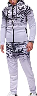 Men 2 Piece Set Jogging Long Sleeve Sweatsuit Hoodies Tracksuit Outfit
