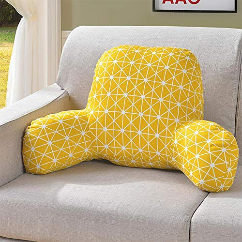 Oshide Cushion Foam Pillow Back Cushion T-Shape Pillow Cotton and Linen Corner Waist Cushion Pillow with Removable Cover Waist Support Cushion Sofa Bed Office Chair