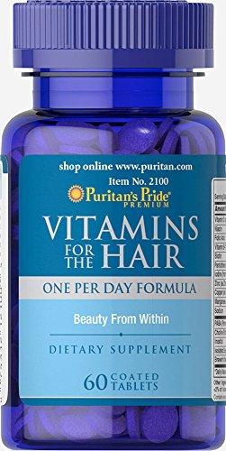 Vitaminas para el Cabello 60 tabletas. Puritan's Pride 1 und.