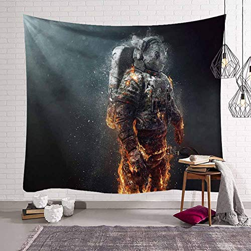 WERT Science Fiction 3D Spaceman Tapestry Sci-Fi Astronaut Space Decoration Yoga Mat Tapestry Background Cloth A12 73x95cm
