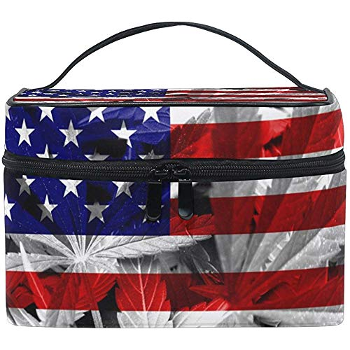 USA drapeau cosmétique sac voyage maquillage train cas stockage organisateur