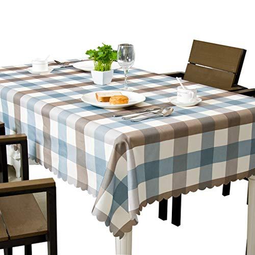 Nappe En Coton De Coton Tissu Étanche Anti-échaudant Couvercle De Table Anti-Poussière pour Cuisine Dinning Table De Décoration (taille : 140 * 220cm)