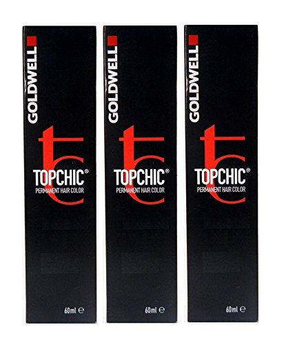 Oro Well topchic 4R oscuro de caoba 3 x 60 ml pelo Color permanente Hair Color GW