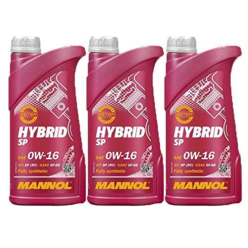MANNOL 3 X 1 (3 Liter), HYBRID SP 0W-16 BISYNTHETISCHES MOTORÖL
