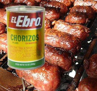 Chorizos Caseros Quijote Paquete o lata El Ebro, El Ebro Lata 7.2 oz