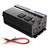 Bowoshen Digital Display 2000W Car Power Inverter DC 12V to AC 110V Modified Sine Wave Converter wtih 4 USB Ports & Adapters for...