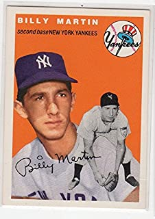 1954 Topps Archives Billy Martin Reprint Baseball Card New York Yankees