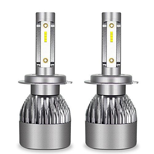 Kit D'ampoules De Phare De Voiture De LED - Kit De Conversion D'ampoules De Kit De Phare De Hi/Lo LED 12V / 24V Remplacent Pour Des Lampes D'halogène,H7