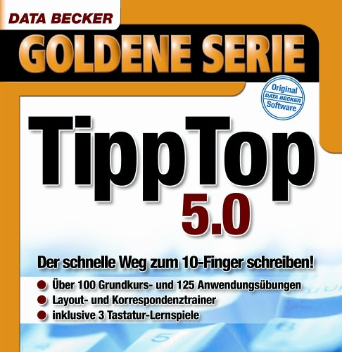 TippTop 5.0, 1 CD-ROMDer schnelle Weg zum 10-Finger schreiben. Für Windows 95C/98(SE)/ME/2000