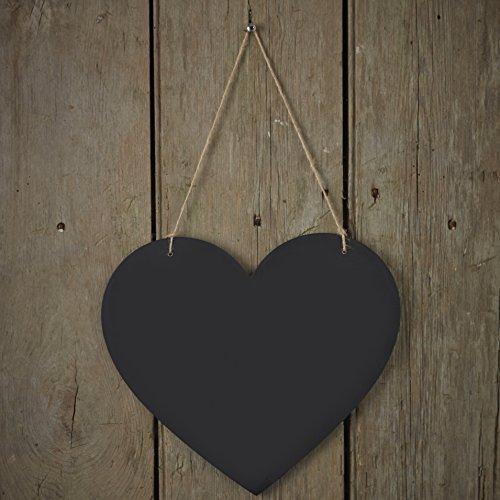 Ginger Ray Schwarzes Brett hängen Rustikal Herzen Dekoration für Heim- oder Hochzeiten - Vintage...