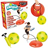 Mookie Reflex Soccer Game - Come Back Soccer Ball Trainer, Red/Yellow, One Size