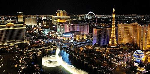 SJYYR Las Vegas Vista Nocturna Arquitectura Río DIY Puzzle para Adultos Kid Friend 300 Piezas DIY Art para Adultos Ups Ejercicio De Manos