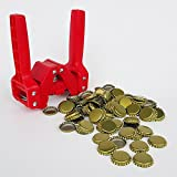 Red Baron Bottle Capper with Gold Crown Oxygen Barrier Beer Bottle Caps (144 Ct)