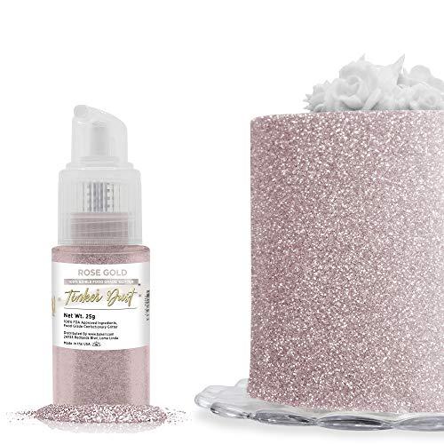 BAKELL Rose Gold Edible Glitter Spray Pump, (25g)   TINKER DUST Edible...