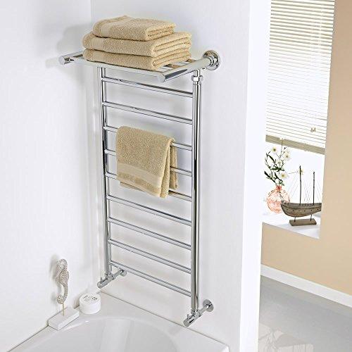 clasificación y comparación Radiador de toalla plana – Cromo – 994 mm x 488 mm x 300 mm – 324 W – Duquesa para casa