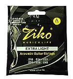 Dhingra Musicals Ziko Extra Light Acoustic Guitar strings DAG-010 (6 Strings)