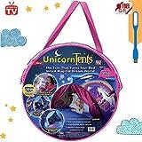 Tente Enfant Tente Kids Play Tents Pop à Bed Tent Castles Cadeaux d'anniversaire Parure de lit Décoration (Licorne)