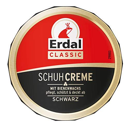 Erdal Dosencreme schwarz, Schuhcreme mit Bienenwachs - nährt und pflegt das Leder, 1er Pack (1 x 75 ml)