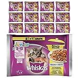 Whiskas Casserole Comida Húmeda para Gatos Junior Selección Aves, Multipack (13 cajas x 4 sobres x 85g)