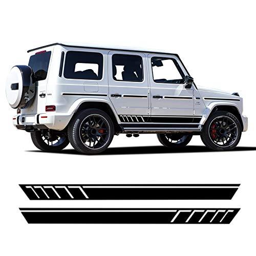 Auto Pegatinas de Calcomanías Body Stripe Lateral, para Mercedes Benz Clase G G63 AMG G65 G500 W463 G550 G350, 2 Piezas de Vinilo para Falda de Rayas Laterales de Puerta de Coche