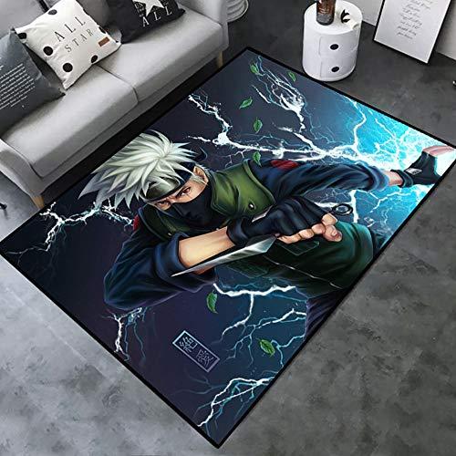 Lupovin N-07 Naruto-Serie-Bereich Rug-Habe Kakashi Anime Teppich Mode Bodendecke rutschfeste Teppich für Schlafzimmer Badezimmer Fans Anime Home Decor Mat Geschenksammlung