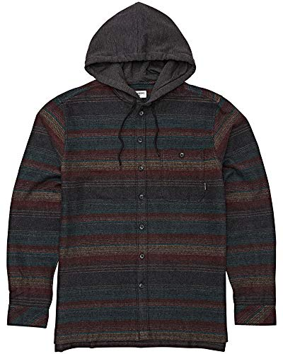 Billabong Men's Baja Flannel Shirt Black X-Large