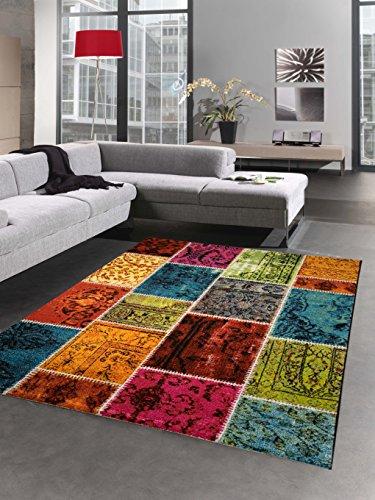 CARPETIA Designer Teppich Patchwork Vintage Wohnzimmerteppich Multicolor bunt Größe 160x230 cm