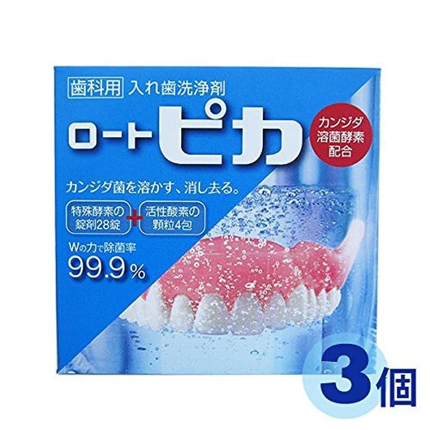 取り替えるグラディスサイズロート 【3個セット】【高齢者?介護用口腔ケア】 ピカ 歯科用 義歯(入れ歯)洗浄剤 3個セット便不可