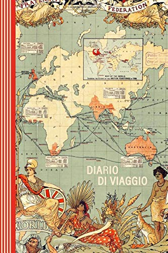 Diario di Viaggio: Mappa del Mondo Journal dotted A5 per Scrivere Appunti, Disegnare, Ricordi, Quaderno da Disegno, Dot Grid Giornalino, Bucket List – Libro Attività per Viaggi e Vacanze Viaggiatore