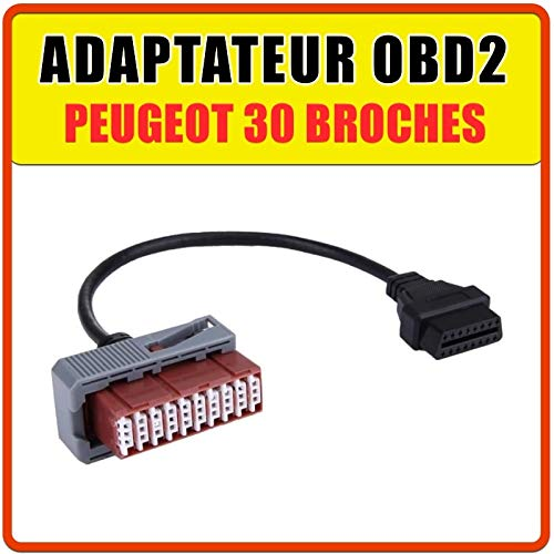 MISTER DIAGNOSTIC OBD2-Adapter für Peugeot 30-polig, kompatibel mit Multi Diag Box