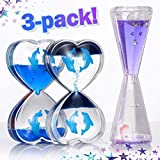 Sensory Toys for Autism Lava Lamps Sensory Liquid Motion Timer for Kids and Adults. 3 Pack Stress, Anxiety Relief...