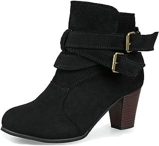 Minetom Damen Herbst Winter Elegant Lange Stiefel Beiläufig Flache Ferse Stiefel Quaste Schnüren Stiefel