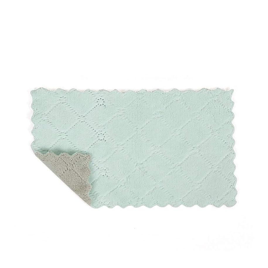 ギャンブル構成受動的MAODING 高吸水マイクロファイバーキッチンディッシュ布精練パッドぼろの高効率ホームクリーニングタオルをダブル両面 ディッシュクロス (Color : 4)