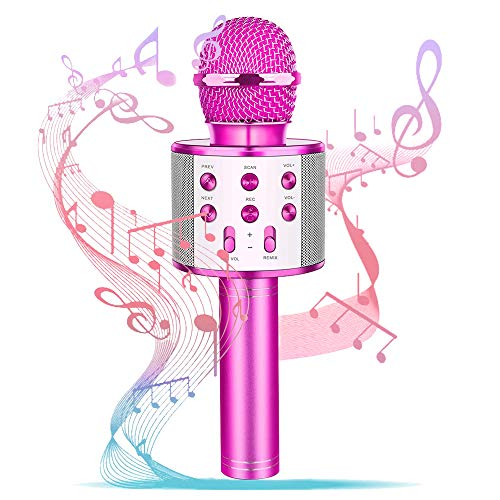Girl Birthday Gift Toy,Best Gift Present for Girl Kid Boy Age 5 6 7 8 9 10 11 12 Years Old,Wireless Bluetooth Microphone Karaoke, Fun Toys for Teen Girls Boys Children Home Party